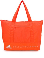 Adidas By Stella Mccartney Quilted Tote Bag Orange