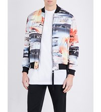 Blood Brother Waltzer Satin Bomber Jacket All Over Print