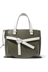 Loewe Gate Small Two Tone Leather Tote White