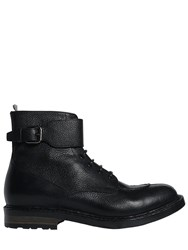 Officine Creative Leather Boots With Buckle Strap