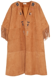 Paul And Joe Tarik Embroidered Suede Jacket