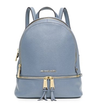 Michael Kors Rhea Small Leather Backpack Pale Blue