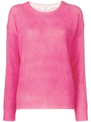 Majestic Filatures Dropped Shoulder Cashmere Sweater Pink And Purple