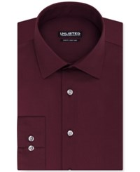 Unlisted By Kenneth Cole Solid Slim Fit Dress Shirt Dark Red