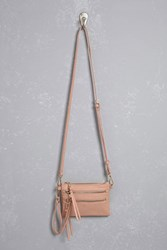 Forever 21 Faux Leather Zip Crossbody Blush
