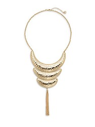 Jules Smith Designs Hammered Tassel Collar Necklace Gold