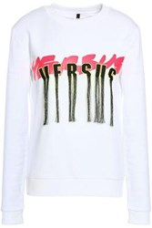Versus By Versace Printed French Cotton Terry Sweatshirt White