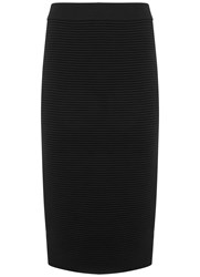 Mint Velvet Black Rib Knitted Tube Skirt Black