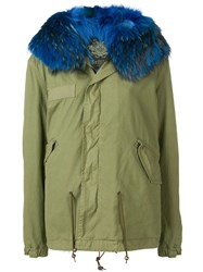 Mr And Mrs Italy Fur Trimmed Parka Coat Green