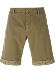 Etro Paisley Trim Shorts Nude And Neutrals