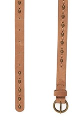 Warehouse Leather Stud And Stitch Belt Tan