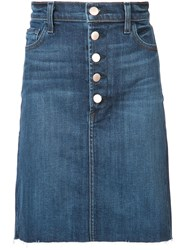 J Brand Roleen Denim Skirt Blue