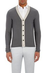 Giorgio Armani Colorblocked Cardigan Colorless