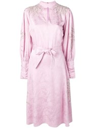 Dodo Bar Or Long Sleeve Flared Dress Pink