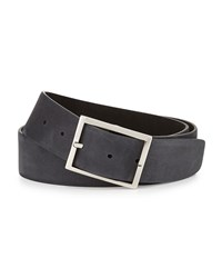 Simonnot Godard Reversible Suede Belt Black Gray