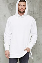 Forever 21 High Neck Hoodie White