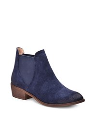 Splendid Henri Leather Double Goring Ankle Boots Navy Blue