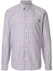 Gieves And Hawkes Checked Cotton Shirt Red