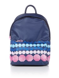 Ted Baker Marina Mosaic Print Sports Backpack Navy