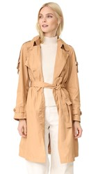 Add Down Trench Coat Beige