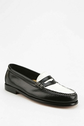 Bass Wayfarer Two Tone Loafer Black And White