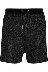 Sandro Phedra Metallic Knitted Shorts Black