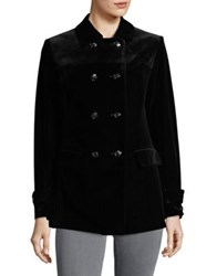 Jones New York Double Breasted Peacoat Black