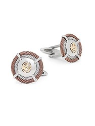 Alor Cable Cufflinks Grey