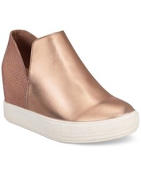 Wanted Adiron Platform Wedge Sneakers Women's Shoes Rose Gold
