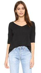Bb Dakota Oversized V Neck Tee Black