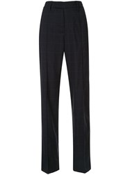 Zadig And Voltaire Peter Check Print Trousers Black