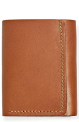 Filson 'S Leather Trifold Leather Wallet Brown Tan Leather