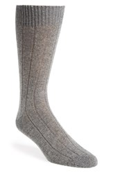Men's John W. Nordstrom Cashmere Blend Socks Grey Light Grey Heather