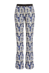 Giambattista Valli Flared Embroidered Pants Blue