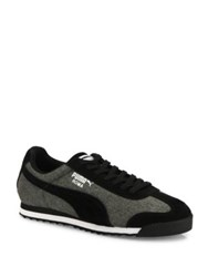Puma Roma Denim Low Top Sneakers Black