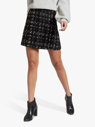 Ted Baker Chele Check Mini Skirt Black