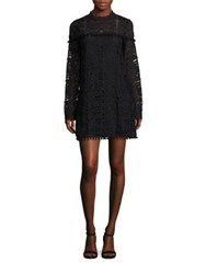 Tularosa Matilda Lace Mockneck Dress Onyx
