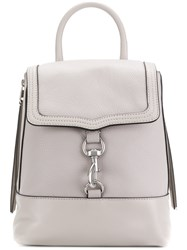 Rebecca Minkoff Bree Pebbled Convertible Backpack Grey
