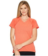 The North Face Reactor V Neck Short Sleeve Shirt Cayenne Red Women's T Shirt