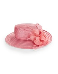 Giovannio Feathered Derby Hat Pink