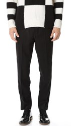 Ami Alexandre Mattiussi Carrot Fit Wool Trousers Black