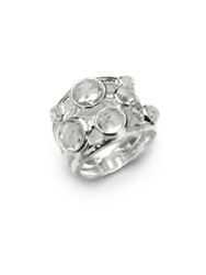 Ippolita Rock Candy Clear Quartz And Sterling Silver Constellation Ring
