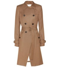 Veronica Beard Hutton Drapey Trench Coat Brown
