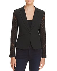 Aqua Lace Blazer Black