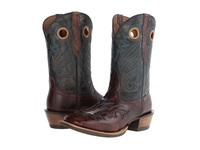 Ariat Trail Head Weathered Buckskin Silver Stream Cowboy Boots Brown