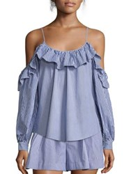 Parker Maureen Combo Blouse Powder Blue