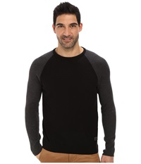 Calvin Klein Jeans Color Block Crew Neck Black Men's Long Sleeve Pullover