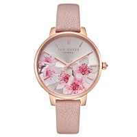 2d01b3675 Ted Baker Te50005004 Women's Kate Leather Strap Watch Rosegold Multi