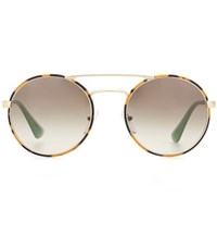 Prada Round Sunglasses Brown