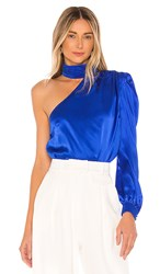 Generation Love Rosario Blouse In Royal. Electric Blue